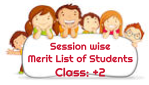 Session wise  Merit List of Students Class: +2